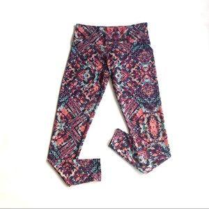 Onzie hi-rise tribal print yoga pants Sz M/L